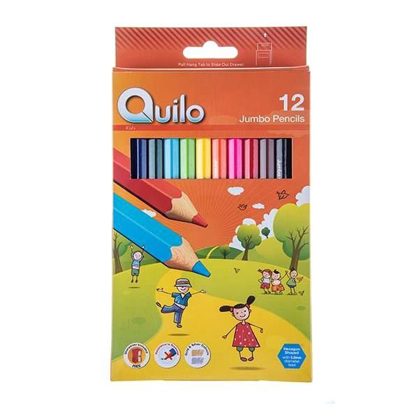 مداد رنگی 12 رنگ مقوایی کویلو 634003