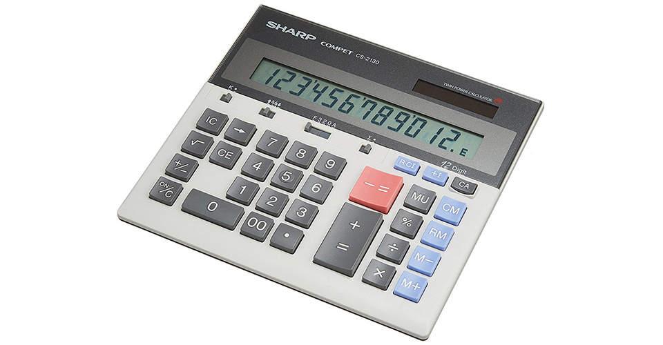 ماشین حساب  مدل CS-2130 شارپ