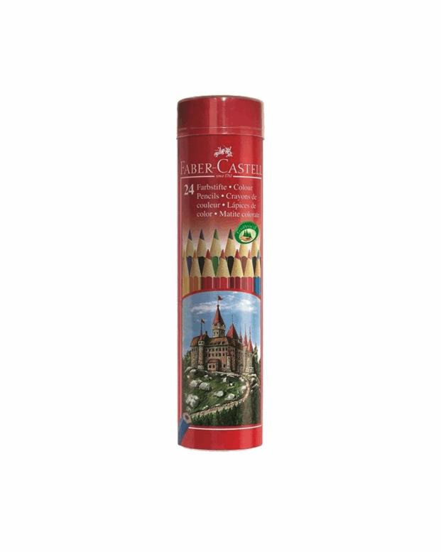 مداد رنگی ۲۴ رنگ استوانه لوله طرح قلعه  5827 فابر