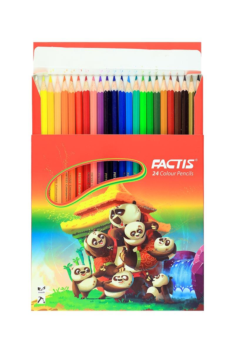 مداد رنگی 24 مقوایی فکتیس