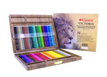 مداد رنگی ویکتوریا جعبه 72 رنگ کنکو