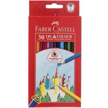 مداد رنگی 30 رنگ مقوایی فابر