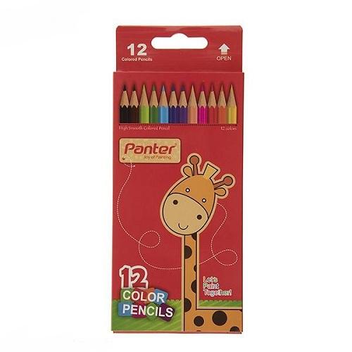 مداد رنگی  پنتر12 رنگ با جعبه مقوایی