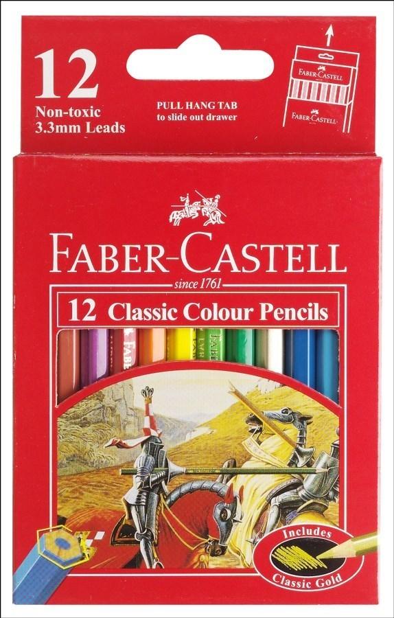 مداد رنگی 12 رنگ مقوایی فابر 582