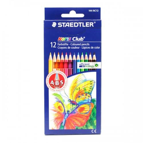 مداد رنگی نوریس کلاب  12 مقوایی 12144 استدلر