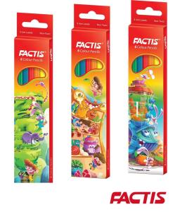 مداد 6 رنگ جعبه مقوایی F07112206