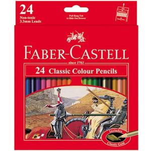 مداد رنگی 24 رنگ فابر مقوایی طرح